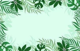 Tropical Green Leaves Background vector