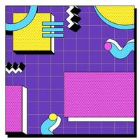 Abstract Modern Retro Memphis Background vector