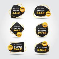 Abstract Modern Black Friday Sale Labels vector