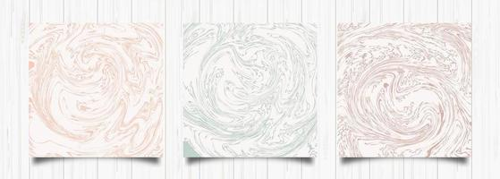 Set of Abstract Marble Cards
