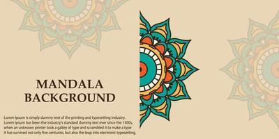 Banner background with mandala design vector