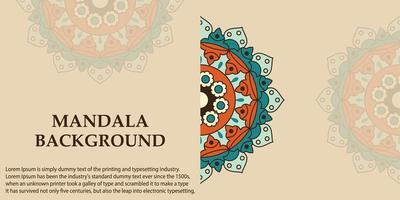 Mandala Art Design backgroud  vector