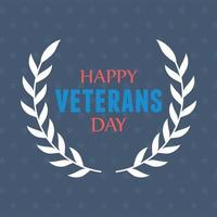 Happy veterans day. US military armed forces emblem vector