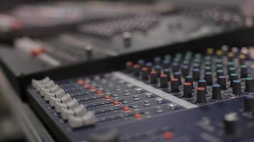mesa de gravação de som video