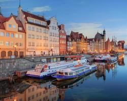 Central quay of Gdansk at twilight, Poland