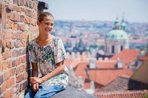 Cute girl in Prague photo