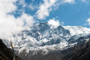 View on the Annapurna massif on a Annapurna Circuit