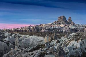 maravilloso paisaje de capadocia en turquía foto