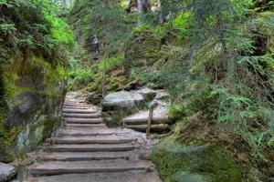 parque nacional de adrspach-teplice rocks. ciudad de rock. Republica checa