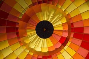 Hot air balloon detail.