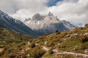 Trekking adventure in Torres del Paine National Park, Chile photo