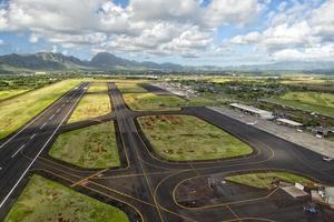 tropical island hawaii small airport photo