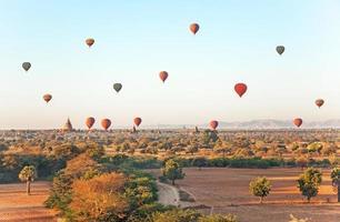 Multicolored Air Balloons Bagan