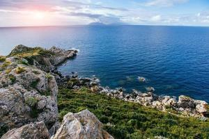Beautiful view along the Cape Milazzo. photo