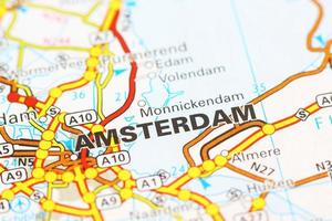 Amsterdam area on a map
