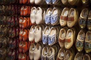 Wooden shoes Dutch souvenirs big choice photo