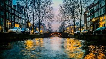 Amsterdam Boat Ride in the Evening photo