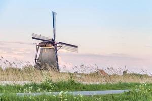 Antiguos molinos de viento en Holanda, Países Bajos