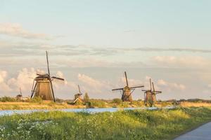 Old Windmills in Holland, Netherlands