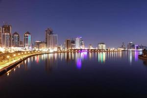 Sharjah City at night photo