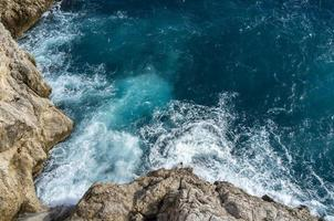 Rocky seaside view from Old Town Wall of Dubrovnik photo