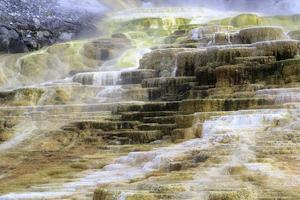 Colorful Mammoth Hot Springs photo