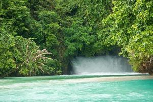 waterfall into Jaquinot Bay, photo