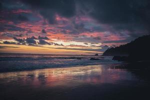 Sunset beach in Costa Rica photo