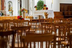 Chair in Basilica Pontificia Santa Croce Torre del Greco photo
