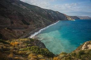 Scenic landscape with seaview, Kythira, Greece photo