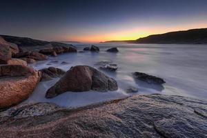Blue Seascape at Dusk photo