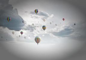 Flying aerostats photo