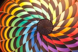 Inside of a hot air balloon with lots of color photo