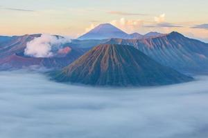 Bromo mountain in East Java, Indonesia photo