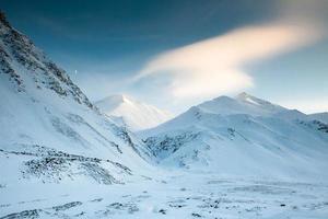 Snowy Mountains - Moon Over the Brooks Range, Alaska photo