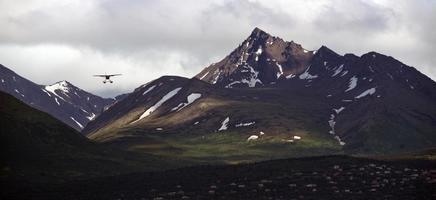 Landing Soon Bush Plane Flys in to Alaska Airport