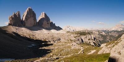 Tre Cime di Lavaredo with shadow photo