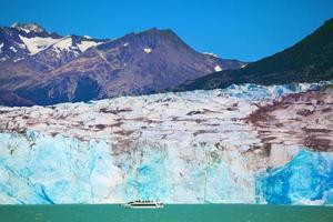 The huge white-blue glacier photo