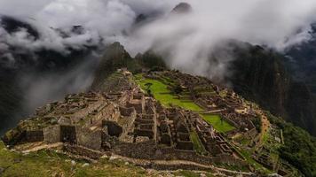 the famous inca ruins of machu picchu in peru photo