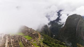 as famosas ruínas incas de Machu Picchu no Peru