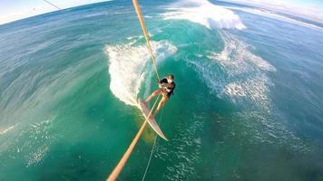 Kitesurfing Cutback GoPro Selfie Hawaii