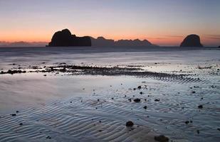 Sunset at the beach of Koh Ngai island Thailand