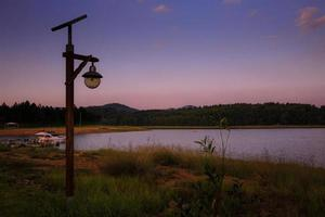 Lamp lonely wilderness lake
