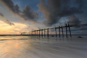 Wooden fisherman bridge, pang-nga Thailand photo
