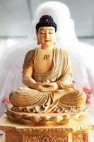meditating Buddha statue photo