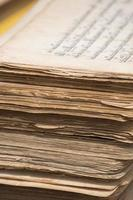 Stack of old Tibetan manuscripts