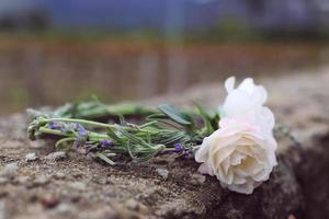 diadema lavanda y rosas