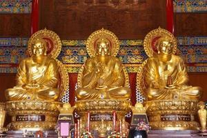 large golden buddhas