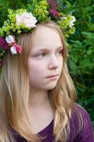corona de flores foto