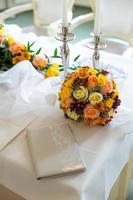 recepción de la ceremonia de la boda